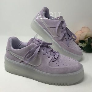 WOMEN'S NIKE AIR FORCE 1 SAGE LOW LX 'VIOLET MIST' $60.00